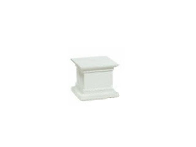 Small white pedestal