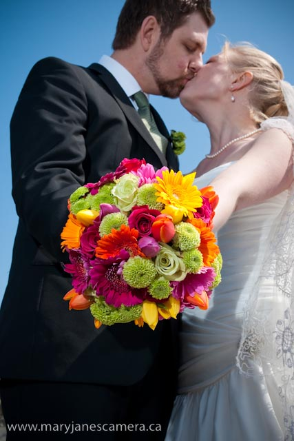 Colourful spring posy bouquet