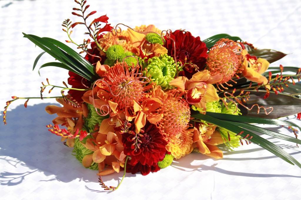 Contemporary Tropical Cascade Bouquet