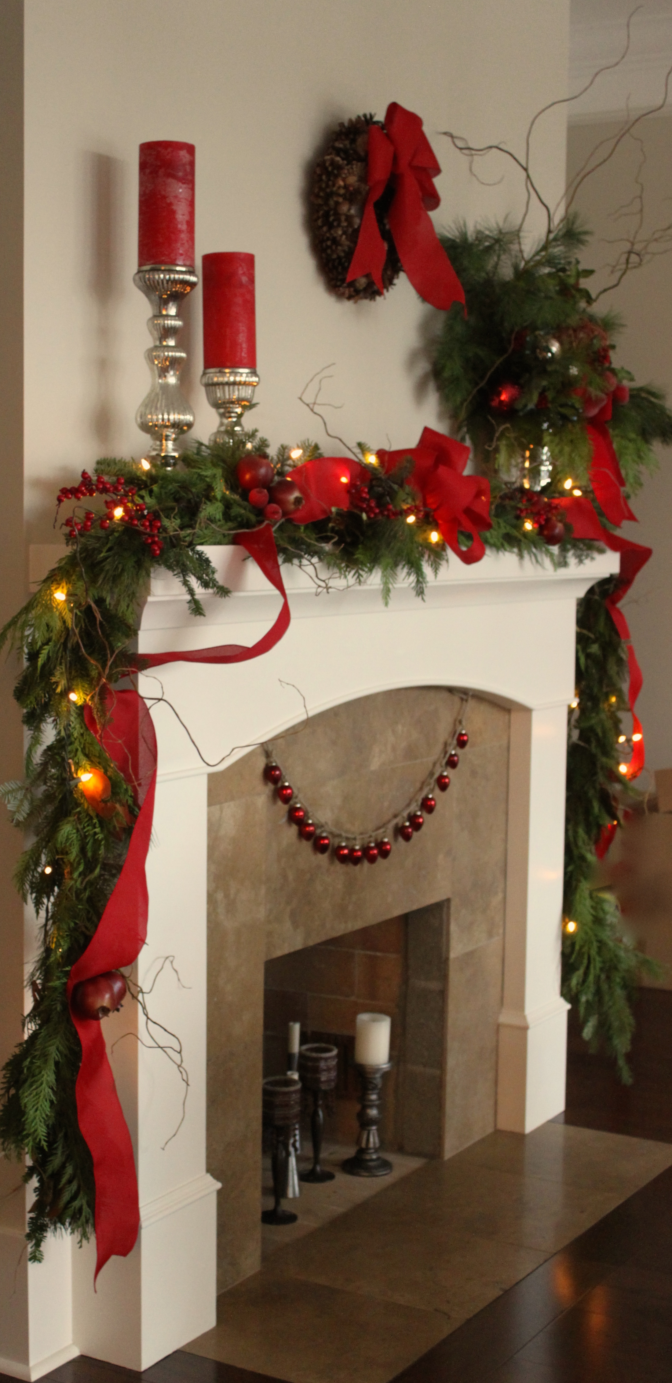 Holiday Decorating Service --Mantle