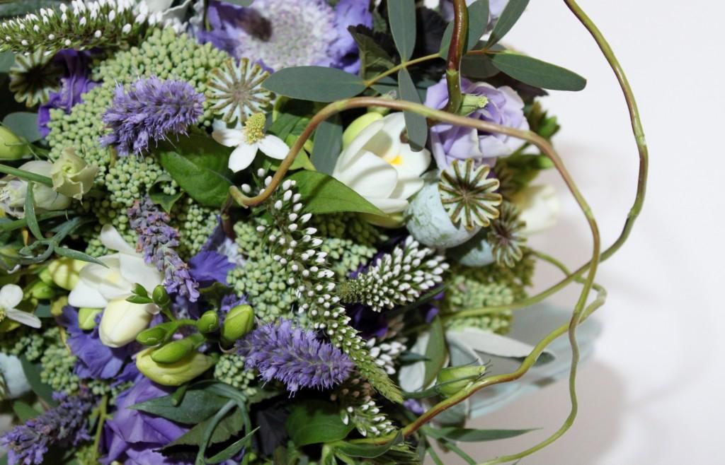 purple lavender garden wedding bouquet