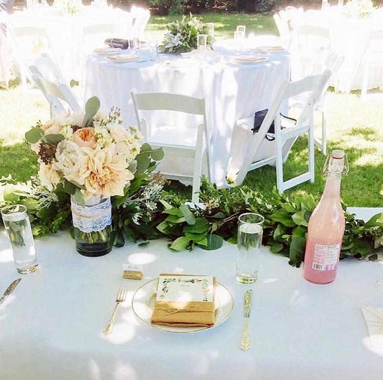 Garden Wedding Romance