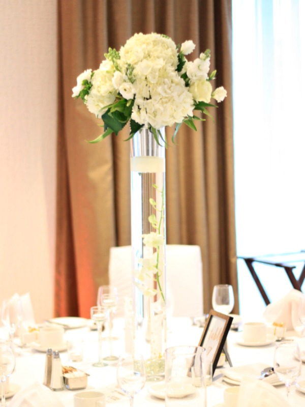 Foxgloves Flowers Victoria BC Florist New Years Eve Wedding Tall Table Centre