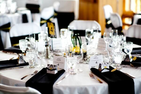 Black and Yellow Tablescape