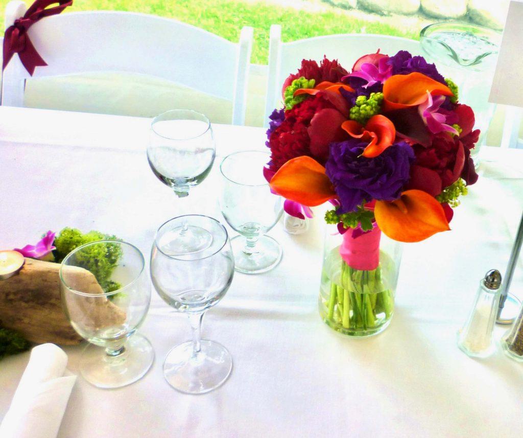 Bridal Bouquet as Table Decor