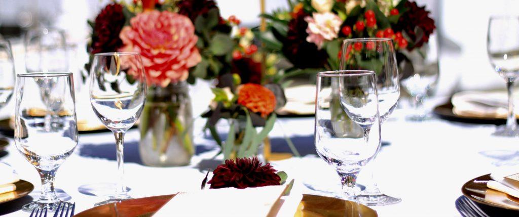Wine and Dahlias