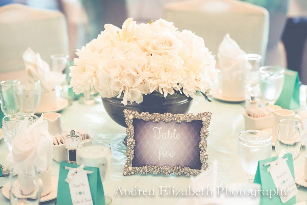 Tiffany and White Tablescape