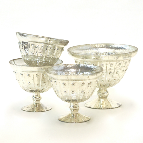 Silver Compote Vases